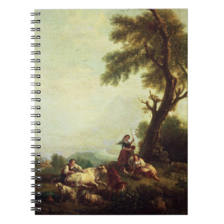 Landscape with Peasants Watching a Herd of Cattle Notebook