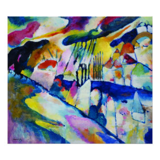 Landscape with Rain by Wassily Kandinsky Print