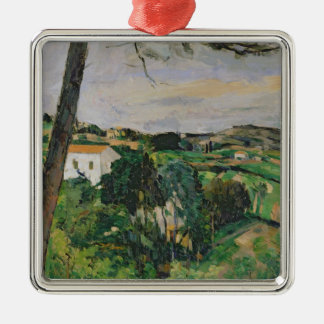 Landscape with red roof or The pine at the Christmas Ornament