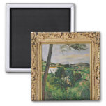 Landscape with red roof or The pine at the Refrigerator Magnets