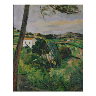 Landscape with red roof or The pine at the Poster