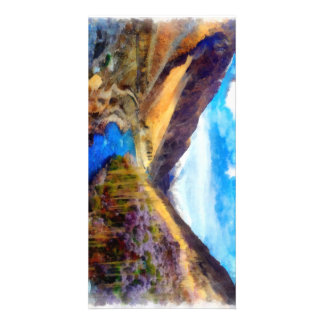 Landscape with river flowing through custom photo card