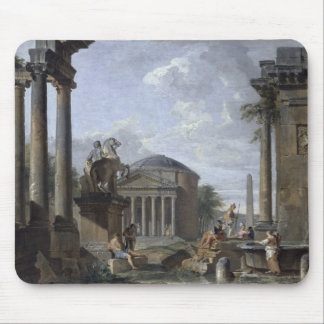 Landscape with Roman Ruins Mouse Mat