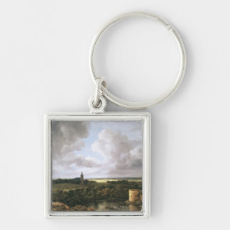 Landscape with Ruined Castle and Church Keychain