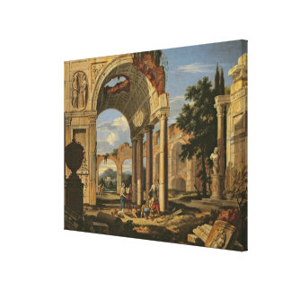 Landscape with Ruins, 1673 Canvas Print