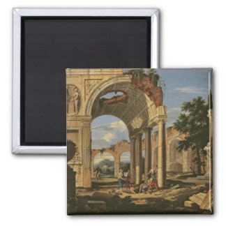 Landscape with Ruins, 1673 Magnet