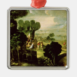 Landscape with Saints, 1520-30 Christmas Ornament