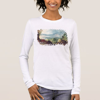 Landscape with Sea and Mountains (oil on canvas) Long Sleeve T-Shirt
