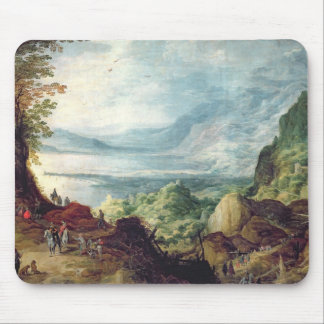 Landscape with Sea and Mountains (oil on canvas) Mouse Pad