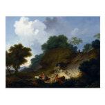 Landscape with Shepherds by Fragonard