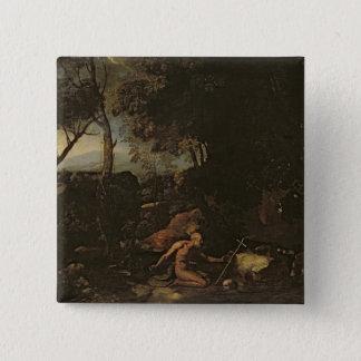 Landscape with St. Jerome 15 Cm Square Badge