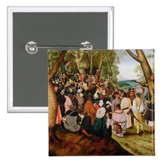 Landscape with St. John the Baptist Preaching 15 Cm Square Badge