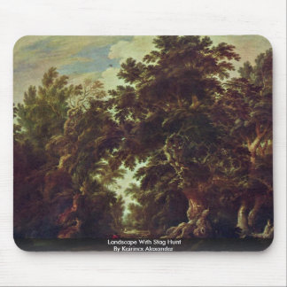 Landscape With Stag Hunt By Keirincx Alexander Mouse Pad