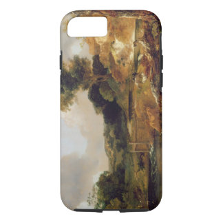 Landscape with Stream and Weir (oil on canvas) iPhone 8/7 Case