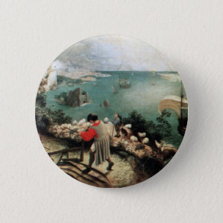 Landscape with the Fall of Icarus - 1558 6 Cm Round Badge