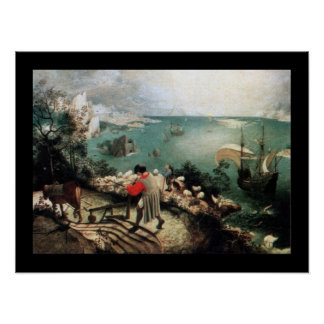 Landscape with the Fall of Icarus - 1558 Posters