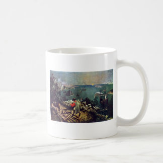 Landscape With The Fall Of Icarus By Bruegel D. Ä. Basic White Mug