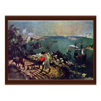 Landscape With The Fall Of Icarus By Bruegel D Ä Postcard