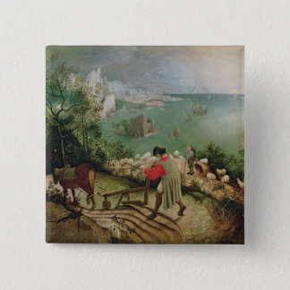 Landscape with the Fall of Icarus, c.1555 15 Cm Square Badge