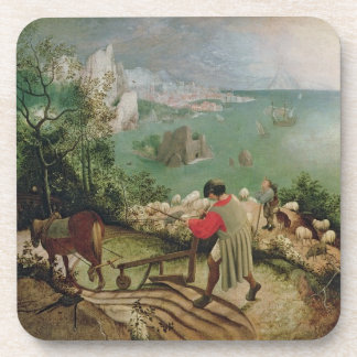 Landscape with the Fall of Icarus, c.1555 Drink Coaster