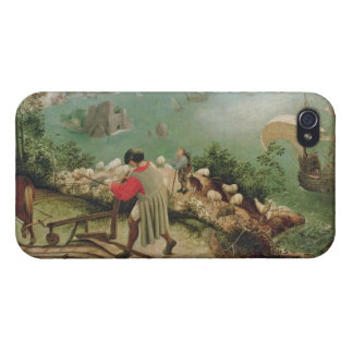 Landscape with the Fall of Icarus, c.1555 iPhone 4 Covers