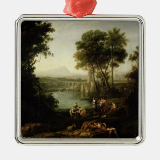 Landscape with the Finding of Moses Christmas Ornament