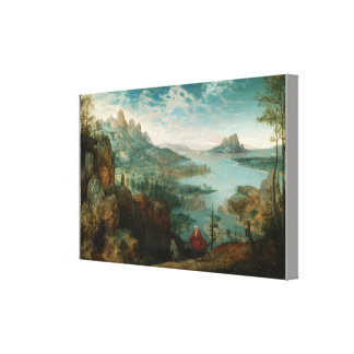 Landscape with the flight into Egypt Canvas Print