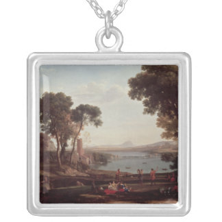 Landscape with the Marriage of Isaac Silver Plated Necklace