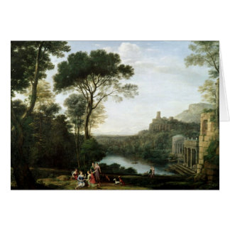 Landscape with the Nymph Egeria Greeting Card