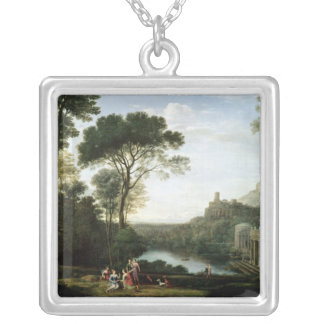 Landscape with the Nymph Egeria Silver Plated Necklace
