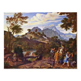 Landscape With The Scouts From The Promised Land B 11 Cm X 14 Cm Invitation Card