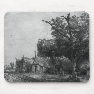 Landscape with Three Cottages, 1650 Mouse Mat