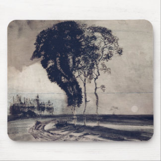 Landscape with Three Trees, 1850 Mouse Mat