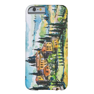 Landscape with town and cypress trees barely there iPhone 6 case