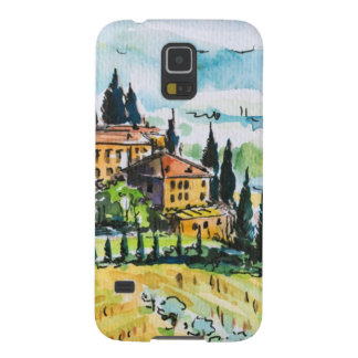 Landscape with town and cypress trees case for galaxy s5