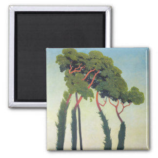 Landscape with Trees, 1911 Square Magnet
