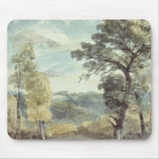 Landscape with Trees and a Distant Mansion Mouse Mat