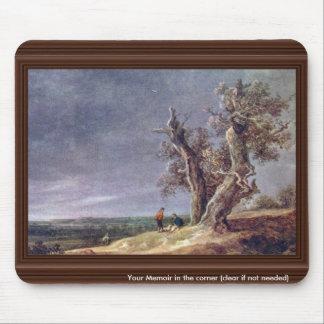 Landscape With Two Oaks. By Jan Van Goyen  (Best Q Mouse Pads
