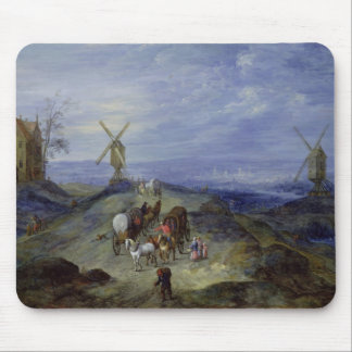 Landscape with Two Windmills, 1612 Mouse Pad