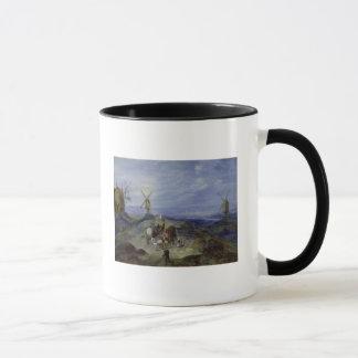 Landscape with Two Windmills, 1612 Mug