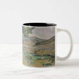 Landscape with viaduct Two-Tone coffee mug