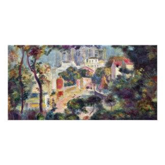"Landscape With View Of Sacré-C? ""Ur Customised Photo Card"