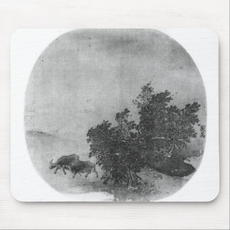 Landscape with water buffalo, Song Dynasty Mouse Mat