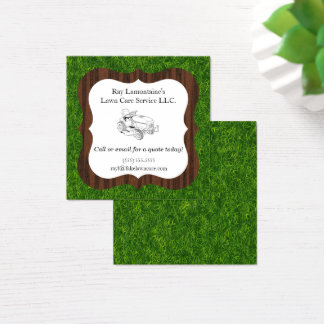 Landscaper and Lawn Care Riding Mower Square Business Card