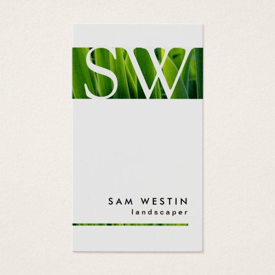 Landscaper Bold Monogram Business Card