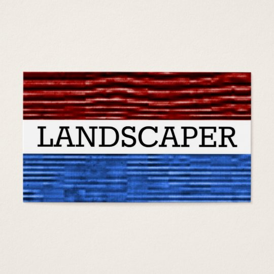 Landscaper Patriotic Business Card