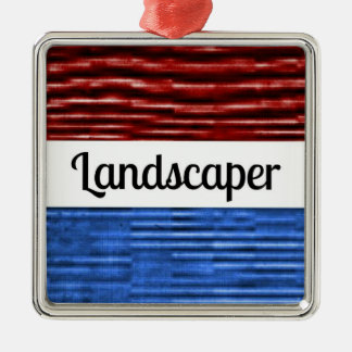 Landscaper Patriotic Christmas Ornament
