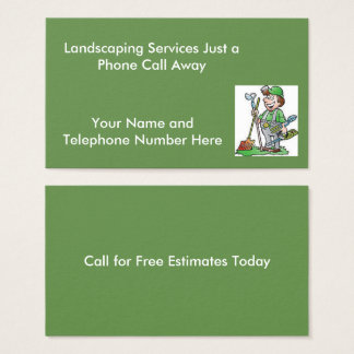 Landscaper Standard Business Cards