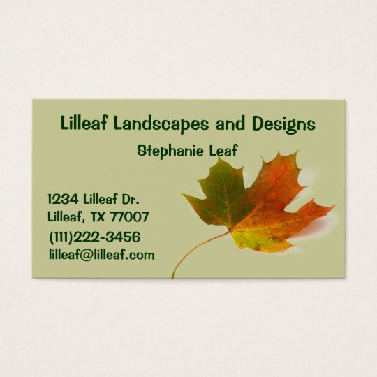 Landscapers business cards