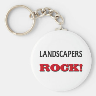 Landscapers Rock Basic Round Button Key Ring
